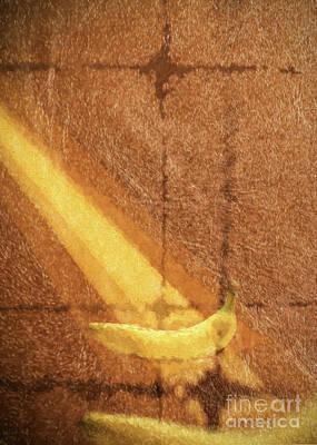 Photograph - Banana and gold by Roberto Giobbi