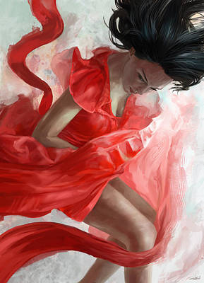Red Dress Mixed Media