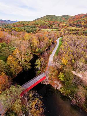 Photograph - Eagleville Bridge by Bert Perry