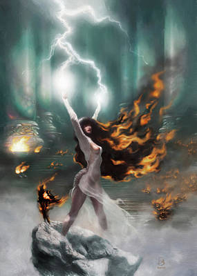 Digital Art - FireWitch by Jesse Bilyeu