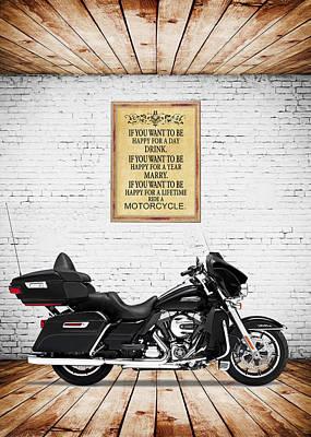 Harley Davidson Motorcycles Wall Art