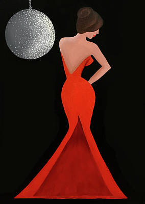 Painting - Lady in Red  by Allison Liffman