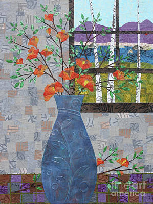 Mixed Media - Orange Blooms by Janyce Boynton