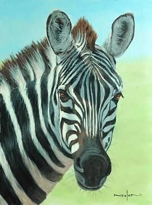 Painting - Zebra Portrait by Nolan Clark