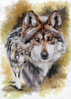 Mexican Wolves Paintings
