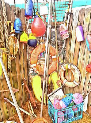 Fishing Gear Mixed Media