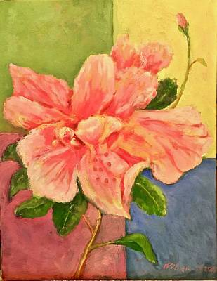 Painting - Another Hibiscus for Andy by Bonnie Wilber