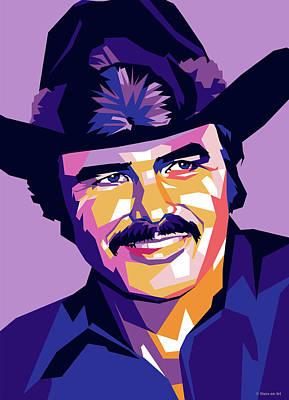 Burt Reynolds Digital Art