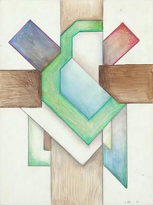 Painting - Jesus Cross L XII 85 by Willy Wiedmann
