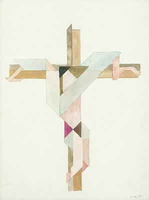 Painting - Jesus Cross V III 85 by Willy Wiedmann