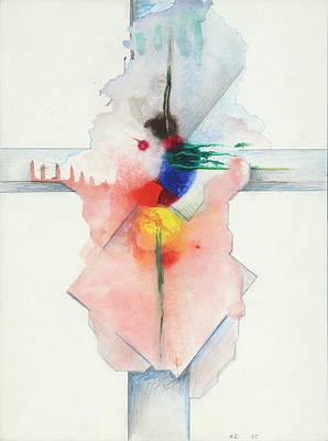 Painting - Jesus Cross XC 85 by Willy Wiedmann