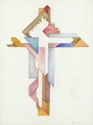 Painting - Jesus Cross XVIII IV 85 by Willy Wiedmann