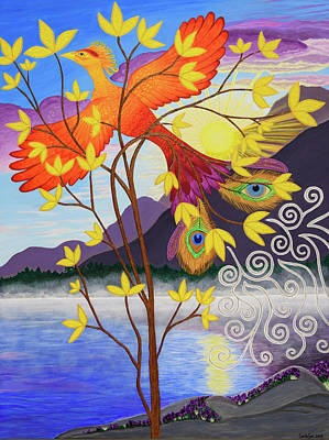 Painting - Phoenix Rising to New Life by Michelle Vyn