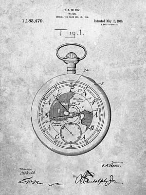 Pocket Watch Digital Art