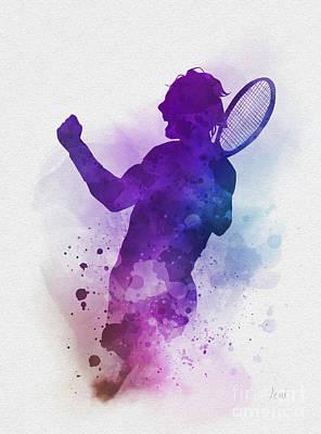 Tennis Man Player Watercolor Print Tennis Player Print Sport Tennis Boy Art Gift