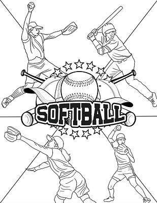 Softball Wall Art