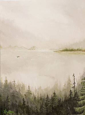 Painting - Waiting For The Eagle To Come by James Andrews