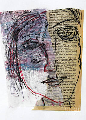 Mixed Media - 095 Six Minute Collage by Janyce Boynton