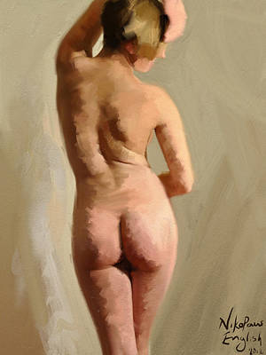 Painting - Nude by Nik English