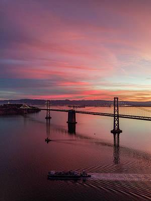 Photograph - Bay Bridge Sunrise by Seascaping Photography