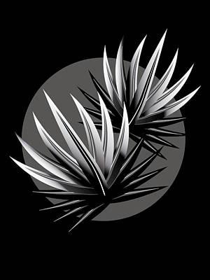 Digital Art - Cactus Moon by Mark Smith