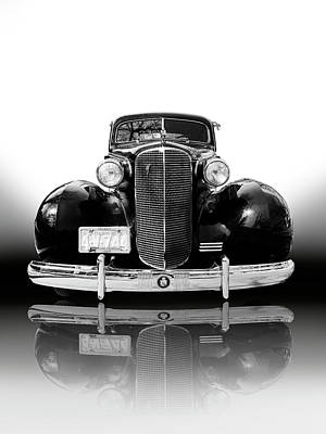Photograph - Classic car - Cadillac of the 1940s by Farzad Frames