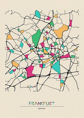 Designs Similar to Frankfurt, Germany City Map
