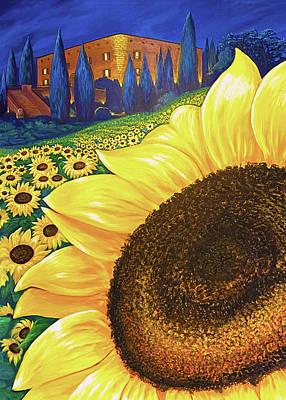 Digital Art - Giant Sunflower by Brenda Ferrimani