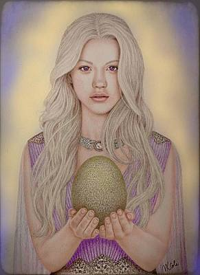 Drawing - Mother of Dragons by Vanessa Cole