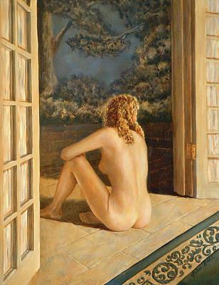 Painting - Peaceful Retreat by John Entrekin