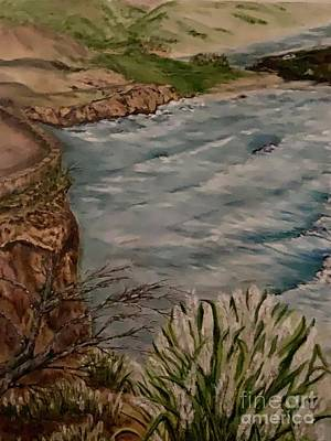 Painting - Big Sur Scenic Road by Michael Silbaugh