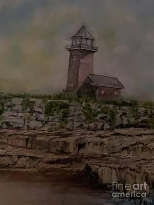 Painting - Santa Cruz Point Lighthouse by Michael Silbaugh