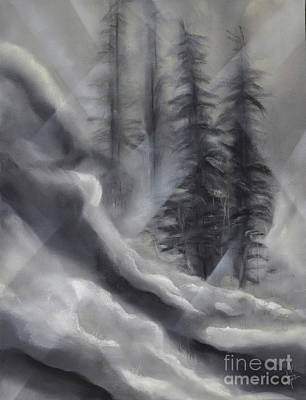 Drawing - Stone Creek-Black and White by Michael Schuessler