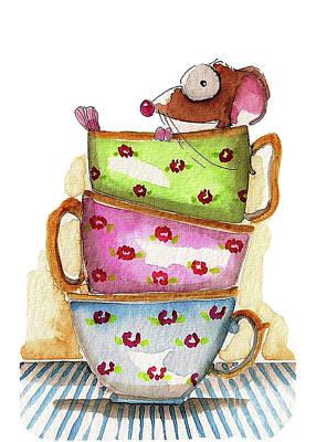 Tea Cup Original Artwork