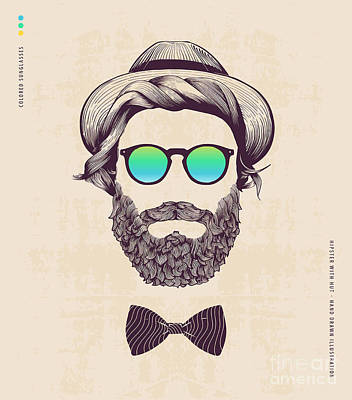 Designs Similar to Hipster With Hat And Jazz-bow