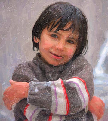 Refugee Girl Paintings