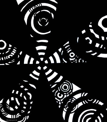 Abstract Black White Difference Abstract Digital Paintings