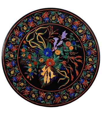 Marble Inlay Medallion Art