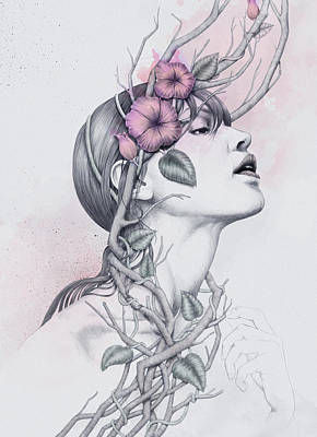 Girl Profile Digital Art