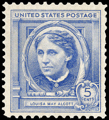 Louisa May Alcott Postage Stamp Prints
