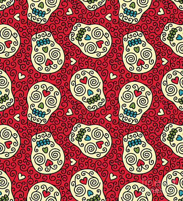 Designs Similar to Seamless With Mexican Skulls