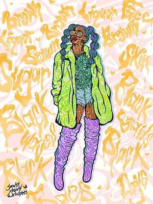 Digital Art - Almeda by Shonte Young Williams