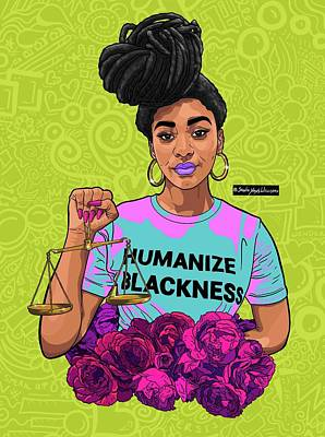 Digital Art - Justice Green by Shonte Young Williams