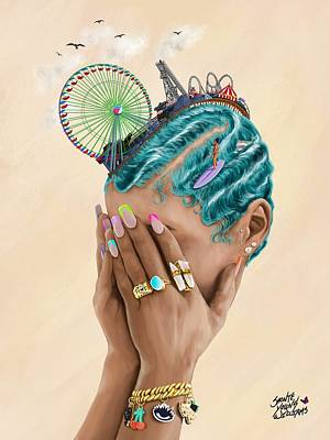 Digital Art - Lets Get Wavy by Shonte Young Williams