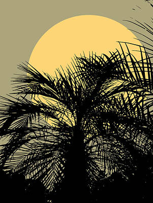 Digital Art - Palms and the Sun by Mark Smith