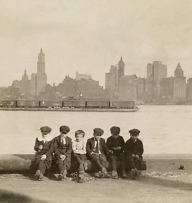 Designs Similar to Boys Sit On New Jersey Docks