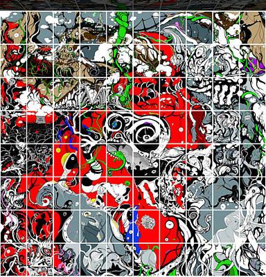 Digital Art - Shower Curtain Chapter One Grid by Craig Tilley