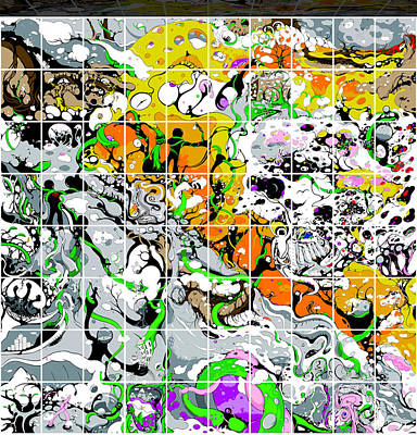 Digital Art - Shower Curtain Chapter Two Grid by Craig Tilley