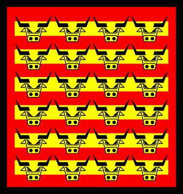 24 Spanish Bulls Digital Art