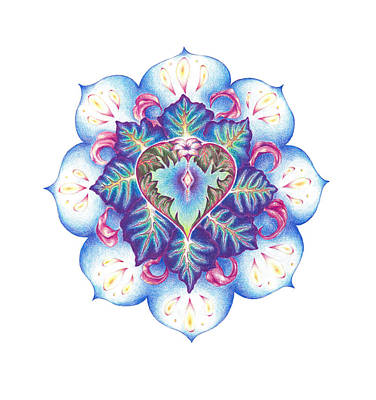 Dolphin Yoga Lotus Art